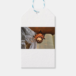 Christmas candle and bible gift tags