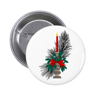 Christmas Candle 2 Inch Round Button