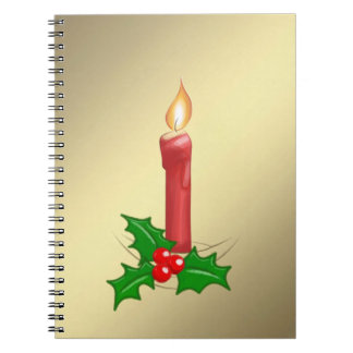 Christmas Candle Gold Notebooks