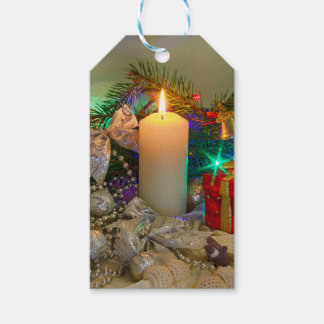 Christmas candle pack of gift tags