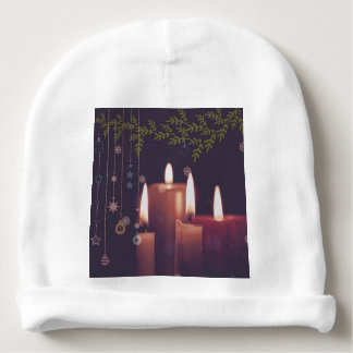 christmas candles baby beanie