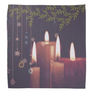 christmas candles bandana