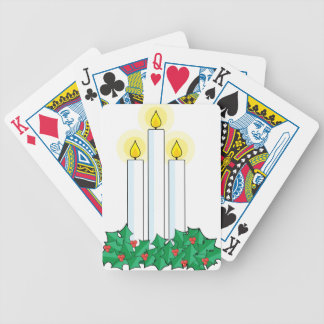 christmas candles bicycle playing cards