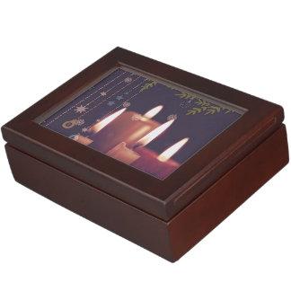christmas candles keepsake box