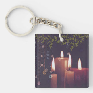 christmas candles keychain