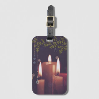 christmas candles luggage tag