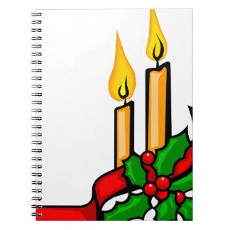 Christmas Candles Spiral Notebook