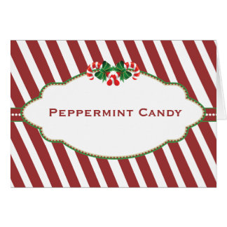 Christmas Candy Buffet Candy Name card