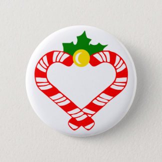 Christmas Candy Cane 2 Inch Round Button