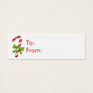 Christmas Candy Cane Gift Tags
