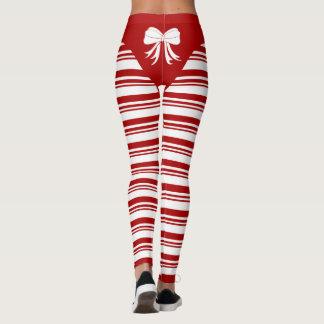Christmas Candy Cane Leggings