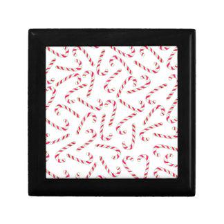 Christmas candy cane pattern gift box