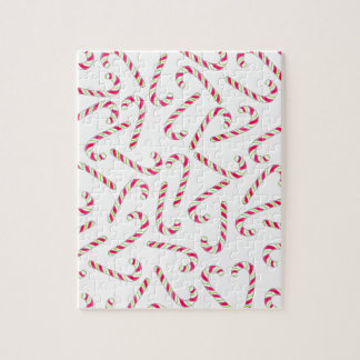 Christmas candy cane pattern jigsaw puzzle