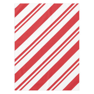 Christmas candy cane pattern tablecloth