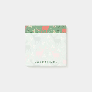 Christmas Candy Cane Reindeer Post-it Notes
