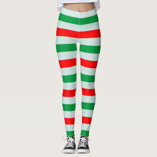 Christmas Candy Cane Striped Leggings