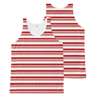 Christmas Candy Cane Stripes All-Over-Print Tank Top