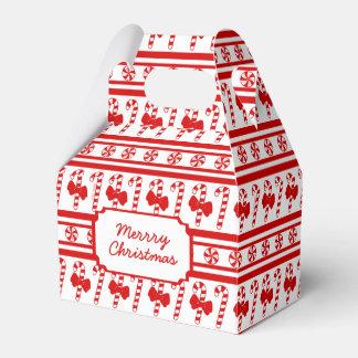 Christmas Candy Cane Stripes Favor Box