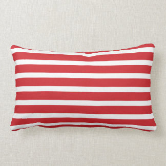 Christmas Candy Cane Stripes Lumbar Pillow