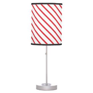 Christmas Candy Cane Stripes Pattern Desk Lamps