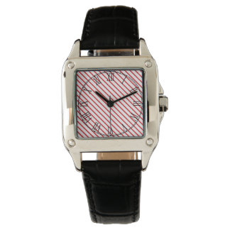 Christmas Candy Cane Stripes Pattern Watch