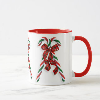 Christmas Candy Canes and ribbons Mug