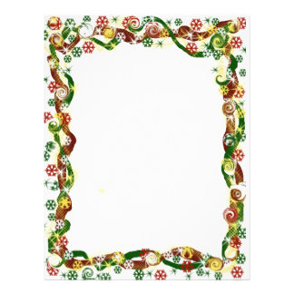 Christmas Candy Christmas snowflake border Letterhead Template