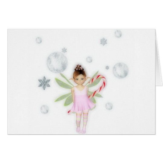 Christmas candy fairy card