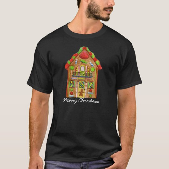 Christmas Candy Gingerbread House T-Shirt