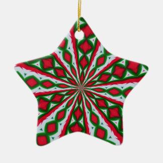 Christmas Candy Kaleidoscope Ceramic Ornament