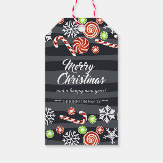 Christmas Candy & Snow Holiday Wishes DIY Gift Tags