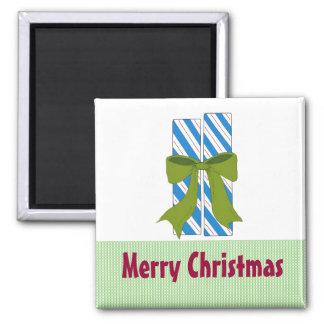 Christmas Candy Sticks Square Magnet