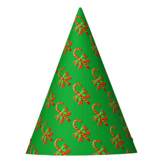 Christmas cane party hat