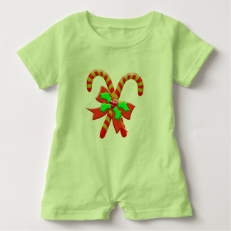 Christmas canes baby romper