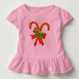 Christmas canes toddler t-shirt