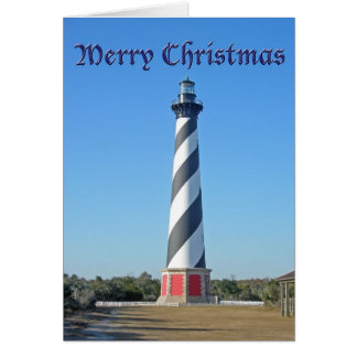 Christmas Cape Hatteras Lighthouse Card