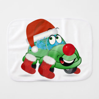 Christmas Car Cartoon Burp Cloth