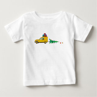 Christmas car with gifts baby T-Shirt