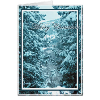 Christmas Card 9, Snow Covered Pine Trees