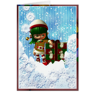 Christmas Card: A Gumdrop Elf with Attitude Card