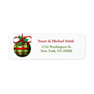 Christmas Card Address Labels | Christmas Ornament