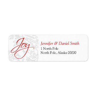 Christmas Card Address Stickers Return Address Label
