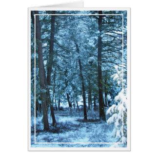 Christmas card, blank, 7 card