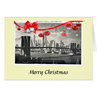 Christmas Card - Brooklyn Bridge, New York City
