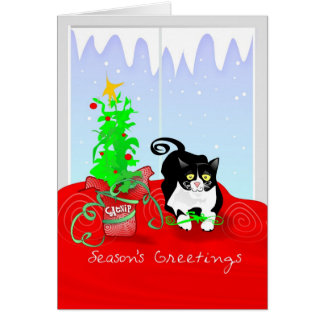 Christmas Card - Cat Season's Greetings Catnip