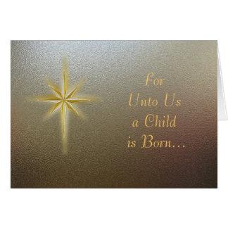 Christmas Card--Christmas Star on Texture Card
