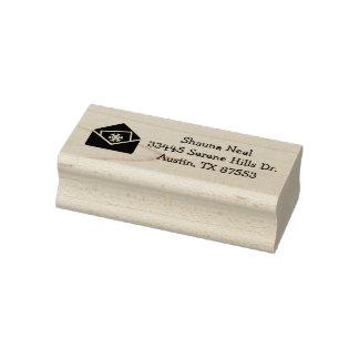 Christmas Card Custom Address Rubber Art Stamp