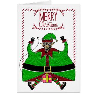 Christmas Card - Devil Elf