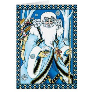 Christmas Card: Father Christmas with Gifts Card