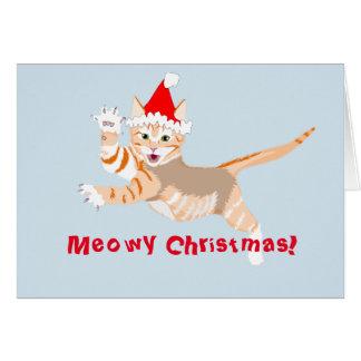 Christmas Card featuring a festive kitten